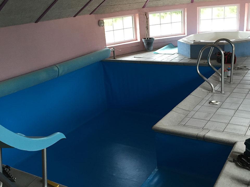 Ny pool og spa I sommerhus